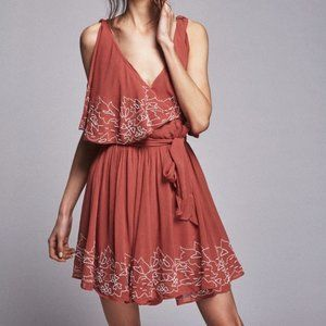 Free People Sylvia Wrap Dress Beaded Embroidery Sm